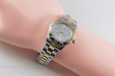 TAG Heuer Aquaracer Quartz WAF1450 Two Tone Gold & Silver Wrist Watch