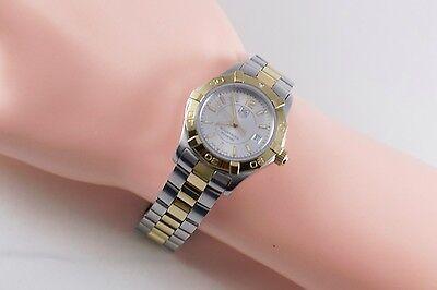 TAG Heuer Aquaracer Quartz WAF1450 Two Tone Gold & Silver Wrist Watch