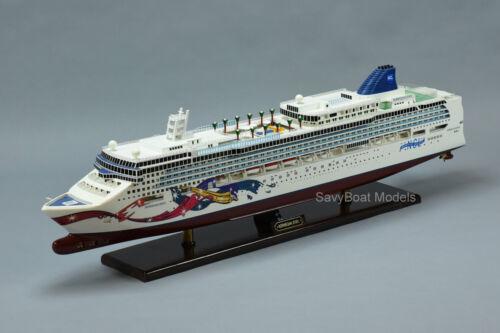 "Norwegian Jewel Cruise Ship 40"" Handmade Wooden Ship Model"