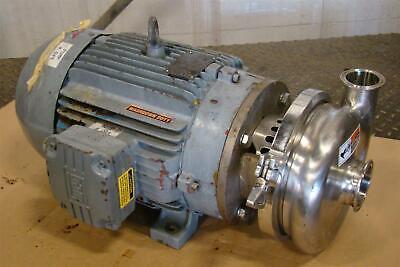Waukesha Cherry Burrell Sanitary Centrifugal 15hp Pump 34212603 2065 Weg 215jm