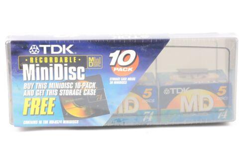 TDK Minidisc MD-XG74 Minidiscs 10 Pack W/ Storage Case - Fast Ship!