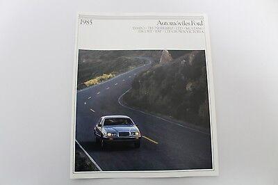 1985 Ford Automobiles Original SPANISH Dealer Brochure-Automoviles