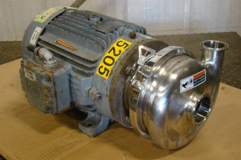 Waukesha Cherry Burrell Sanitary Centrifugal 15HP Pump WEG JM015402P 215JM