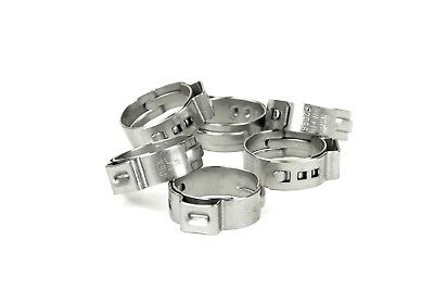 New 50 Pex Stainless Steel Clamp Cinch Rings Crimp Pinch Fitting 34 50pcs