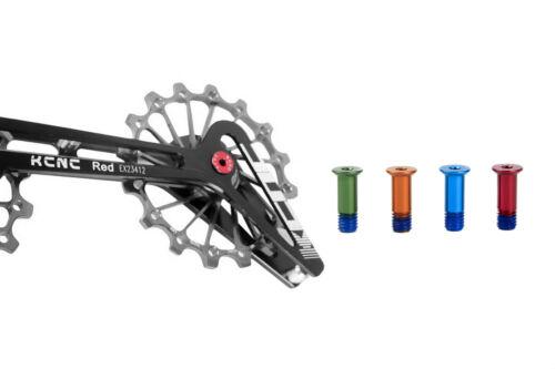 KCNC Road Mountain Bicycle Bike Rear Derailleur Pulley Bolts Screws 2pcs Black