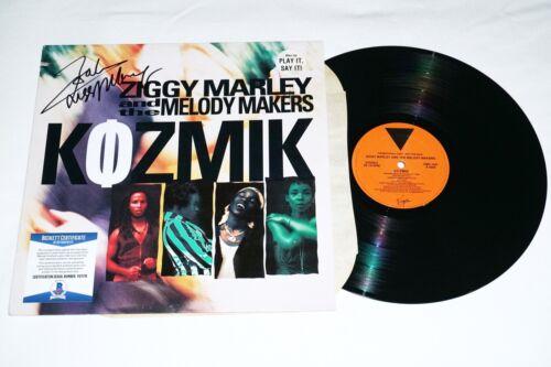 ZIGGY MARLEY Hand Signed KOZMIK Vinyl LP Album with BECKETT COA Reggae bob