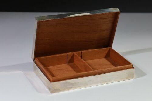 VINTAGE SOLID SILVER STERLING CIGARETTE BOX, CIGAR BOX, TRINKET BOX, B