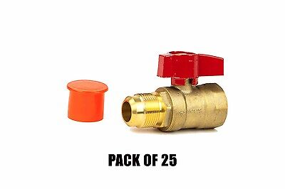 58 Flare X 34 Fip Straight Gas Ball Valve Csa Thread 600 Wog- Pack Of 25