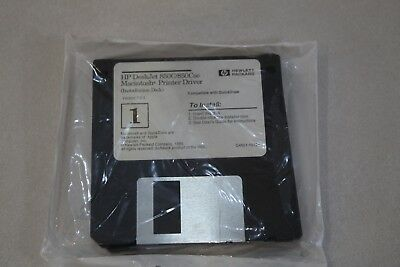 Hp Deskjet 850C Printer Driver Macintosh Factory Sealed 4 3 5 Installation Disks