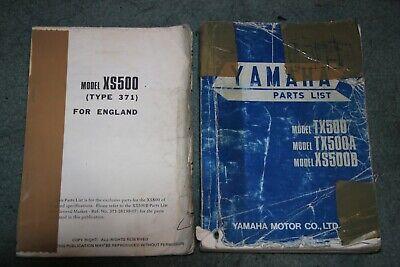 <em>YAMAHA</em> XS500B <em>XS 500</em>B PARTS LIST BOOK 1975 INCLUDING PARTS LIST FOR EN