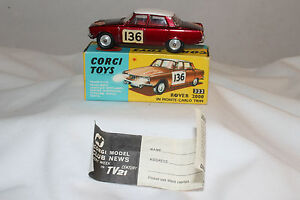 Corgi-322-Rover-2000-in-Monte-Carlo-Rallye-Trim-Nice-With-Original-Box