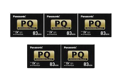 5 Panasonic Pro 83 Min Mini Dv Tape Dv102 Gs120 Gs200 Dv202 Vm202 Dv700 Dv852