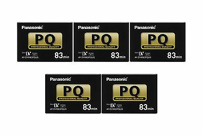 5 Panasonic Pro 83 Minutes Mini Dv Tape For Gs80 Gs500 Gs400 Gs320 Gs300 Gs250