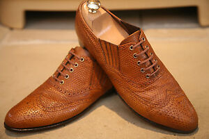 Rare-John-Lobb-Mens-English-Handmade-Lizard-Skin-Shoes-Size-UK-7-RRP-6000