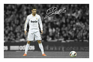 Cristiano Ronaldo Signed Autograph Photo Print CR7 Real Madrid Christiano