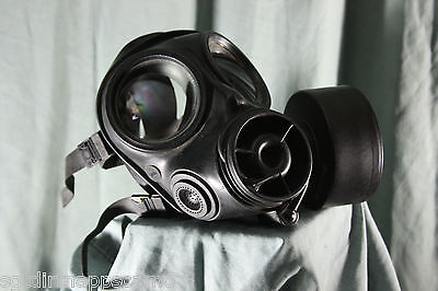 "British S10 Gas Mask and Haversack ""Surplus item""  Grade 1   Size 1,2,3 & 4 on Rummage"