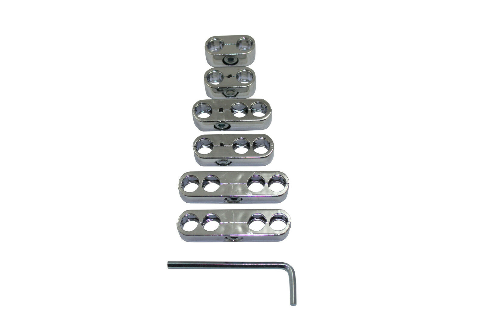 Universal Chrome Spark Plug Wire Loom / Dividers / Separator Set 8 ...