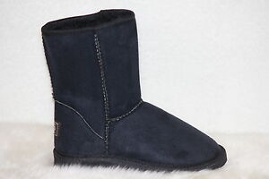 Ugg-Boots-Short-Synthetic-Wool-Colour-Black-Size-4-Ladys