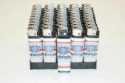 NEW Baron Wholesale Lot of 50 Budweiser Cigarette Lighters