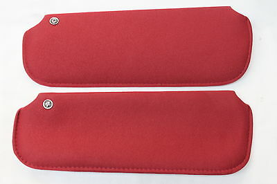 82-92 Camaro/firebird Red Hard Top Sun Visors Pair