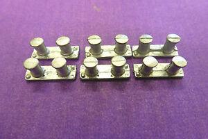 AM 02 Model Boat Fittings, White Metal Bollards  x  6