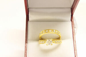 22ct-916-stunning-solid-indian-gold-engagement-wedding-ring-set-Boxed