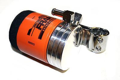 AHC Harley chopper bobber remote oil filter mount FRAM motorcycle new universal