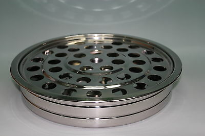"Stainless Steel Communion Tray - 12.2"" - Holds 40 - NEW"