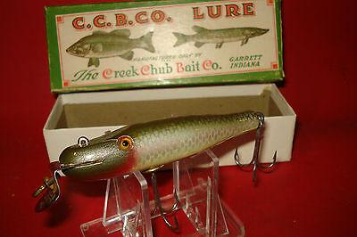 Creek Chub Ccbc Baby Pikie 903 Silver Shiner Vintage Wood Fishing Lure   Box