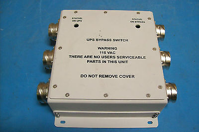 UPS BYPASS SWITCH 77-2666 REV 01JE
