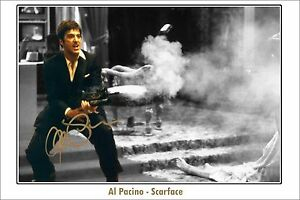 * AL PACINO * Large signed poster of scarface! Great as a gift or memorabilia!