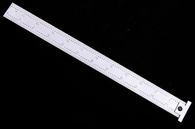 Igaging 12 Machinist Hook Ruler / Rule 4r With 1/8, 1/16, 1/32, 1/64 Grads