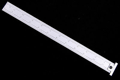 Precision12 Machinist 4r Hook Ruler/rule With 1/8, 1/16, 1/32, 1/64 Grads