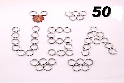 "Stainless Steel Key Rings 1/2"" (12mm) Split Ring, Wholesale LOT 50"