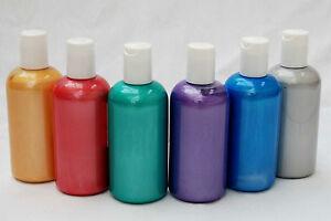 Scola-Pearl-Fluorescent-Fabric-Textile-Paint-150ml-12-Fabulous-Colours