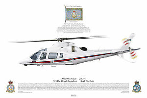 Squadron-Print-1017-Agusta-109-32-RAF-Northolt-aircraft-Royal-Air-Force