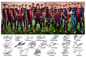 Barcelona-FC-Squad-Signed-Autograph-Photo-Print-Lionel-Messi-Iniesta-2012-2013