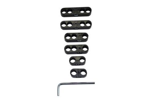 Universal-black-Spark-Plug-Wire-Loom-Dividers-Separator-Set-8-8-8