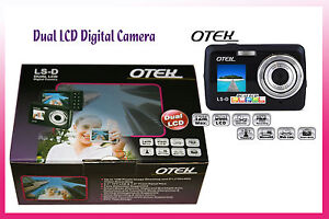 DUAL LCD DIGITAL CAMERA w/ VOICE & VIDEO RECORDING HIGH RESOLUTION @12MEGA PIXEL