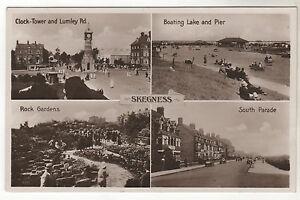 Skegness-Multiview-Real-Photo-Postcard-c1930