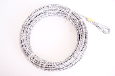 "3/16"" x 50 ft Galvanized Wire Rope Winch Cable"