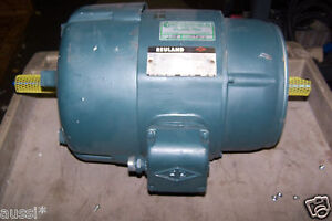 Reconditioned Reuland 3 Hp Dual Shaft Electric Motor 213