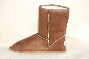 Ugg-Boots-Short-Synthetic-Wool-Colour-Chestnut-Size-10-Mens