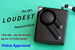New Minder Tii Personal protection attack alarm with strobe torch light. 143 db.