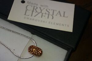 Genuine Swarovski Elements Crystal Gift Boxed Golden Beaded Necklace - £35!