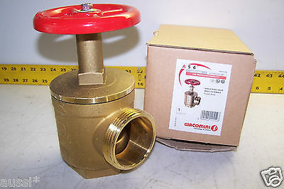 New Giacomini Fire Hose Valve 2-12 Nst X 2-12 Npt Rough Brass A56y005