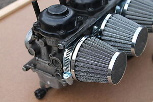 SUZUKI GSF600 GSF650 GSF 600 650 BANDIT K&N STYLE POWER CONE AIR FILTERS