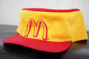 NEW-Vintage-Style-Old-School-McDonalds-Adjustable-Work-hat-cap-Yellow-Red