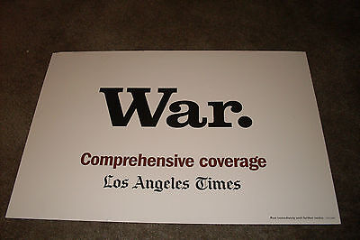 War   Los Angeles Times News Stand Poster  Usa Attacks Iraq