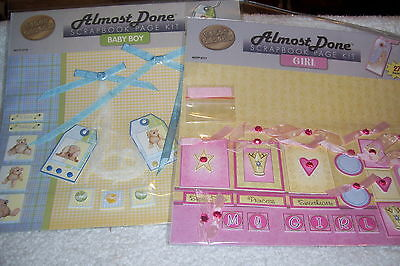 ALMOST DONE SCRAPBOOK PAGE KIT, BABY BOY AND GIRL, (Almost Done Kit)